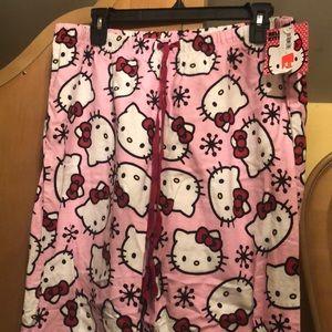 Hello kitty fleece pj pants